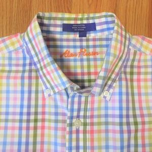 ALAN FLUSSER Mens 100% COTTON BUTTON COLLAR SHIRT